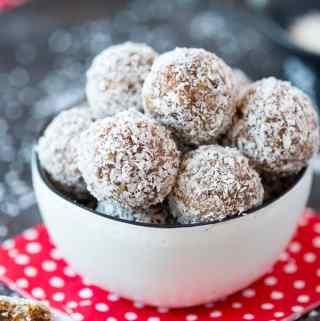 """Snowball""  Coconut Date Energy Bites"