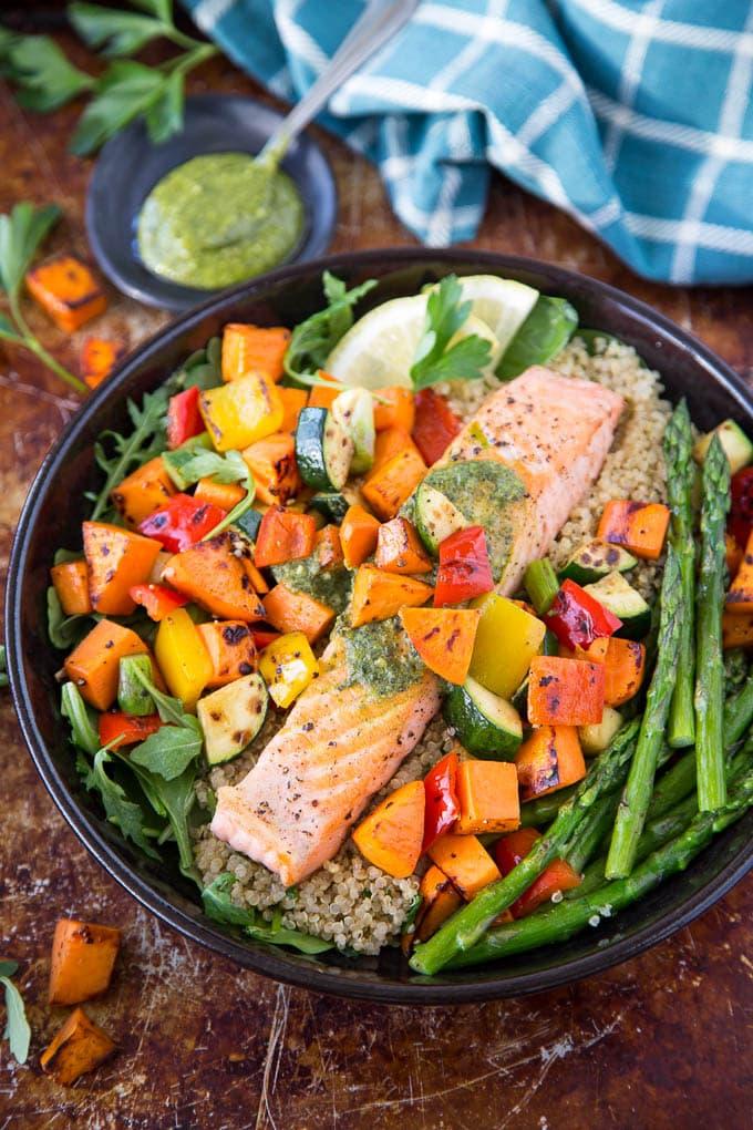 roasted salmon and veggies 2