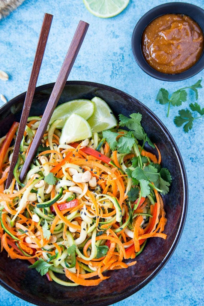 zucchini + carrot noodles 1