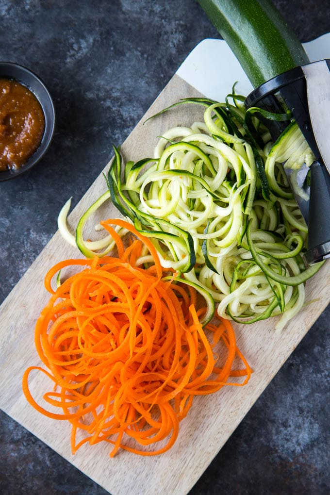 zucchini + carrot noodles 2