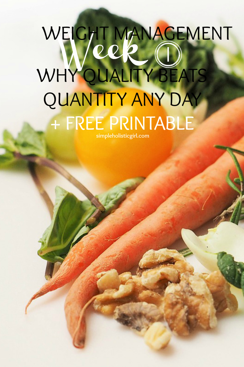 WEIGHT MANAGEMENT – WEEK 1 WHY QUALITY BEATS QUANTITY ANY DAY + FREE PRINTABLE