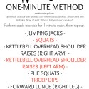 The Full Body 30 Minute Workout: One-Minute Method