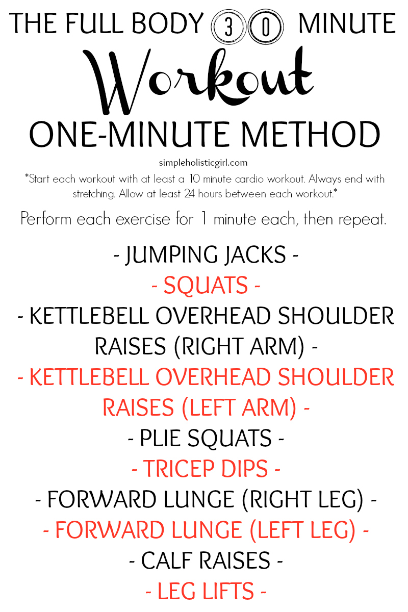 The Full Body 30 Minute Workout One-Minute Method