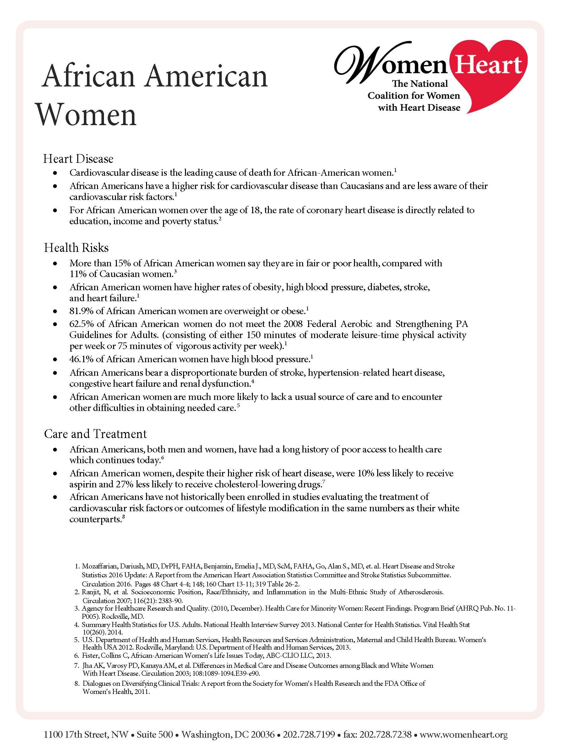 8. African American Women & HD FactSheet