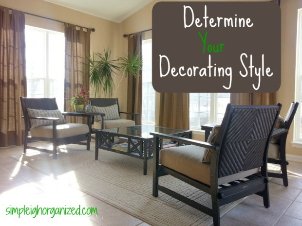 an easy way to determine your decorating style