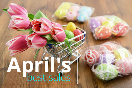 items on sale in April