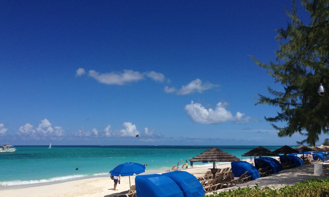 The crystal waters of the Caribbean