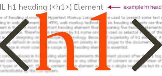 la balise h1 : son utilisation dans les pages