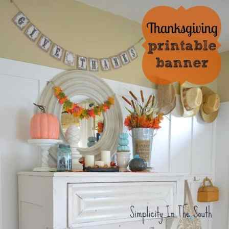Thanksgiving vignette and free printable banner