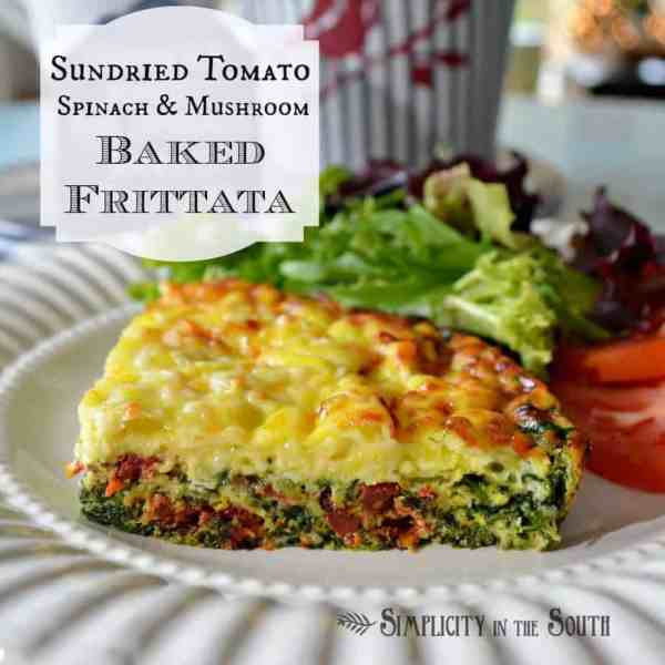 Sun-dried Tomato, Spinach & Mushroom Baked Frittata - Simplicity in ...
