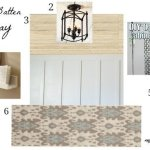 Board and Batten Hallway Design Board