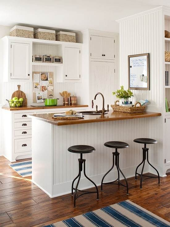 Timeless Kitchen Design Ideas simple kitchen design with nifty making a kitchen that lasts simple kitchen design timeless ideas Bhg Kitchen With Beadboard Backsplash And Island