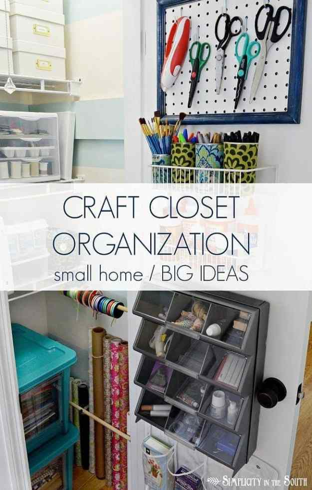 Small home  big ideas for organizing a craft closet