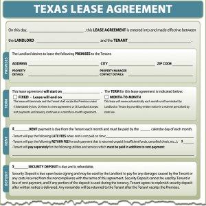 Texas Lease Agreement