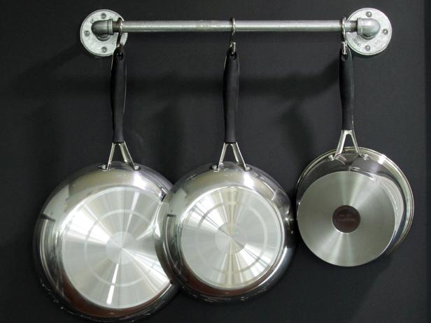 how to choose the right rack for hanging pots and pans. Black Bedroom Furniture Sets. Home Design Ideas