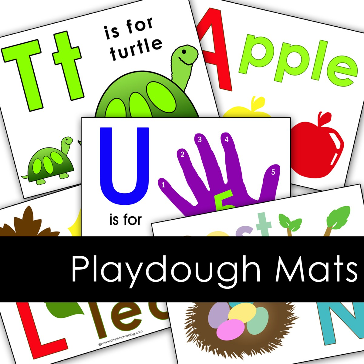 Letter Playdough Mats