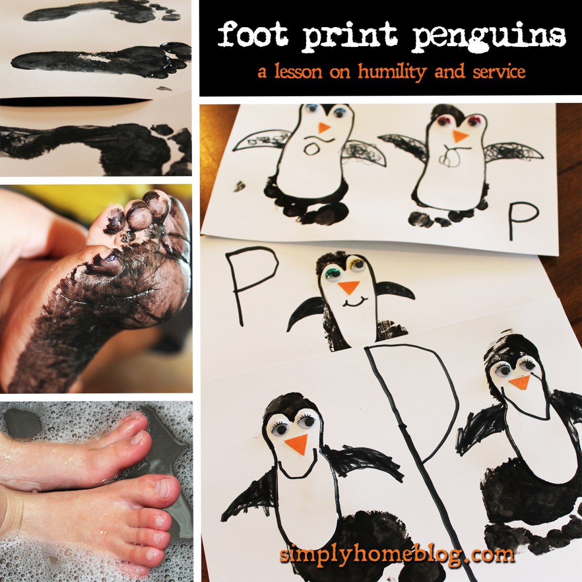 Foot Print Penguins: A Lesson on Humility, Grace, and Service