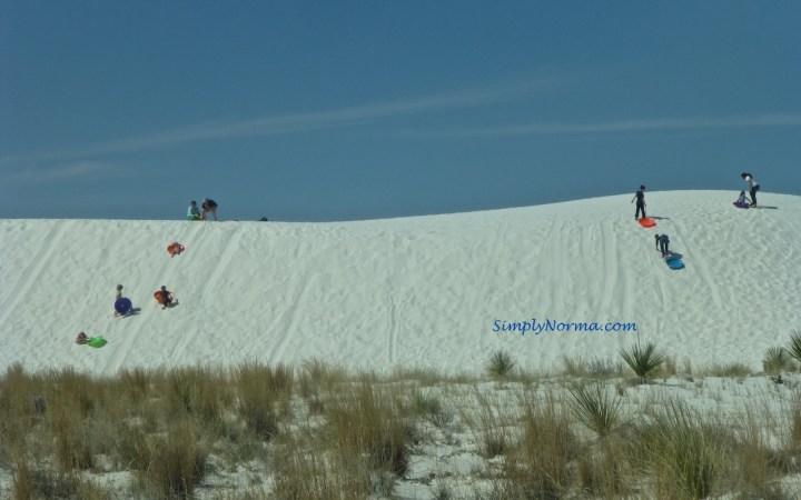 Sledding, White Sands National Park, New Mexico
