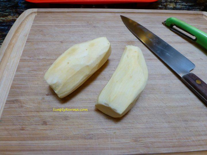 Peel the potatoes