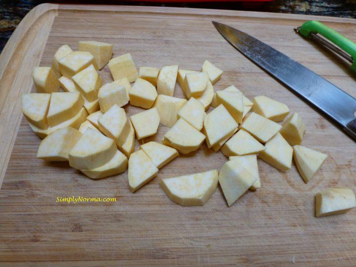 Cut into bite-sized pieces