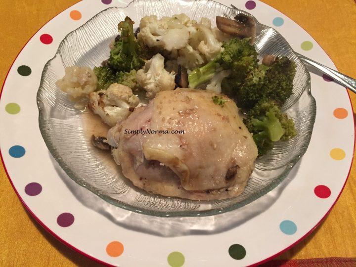 Paleo Baked Chicken with Broccoli & Cauliflower