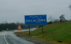 Oklahoma, where the winds come swiftly across the interstate!