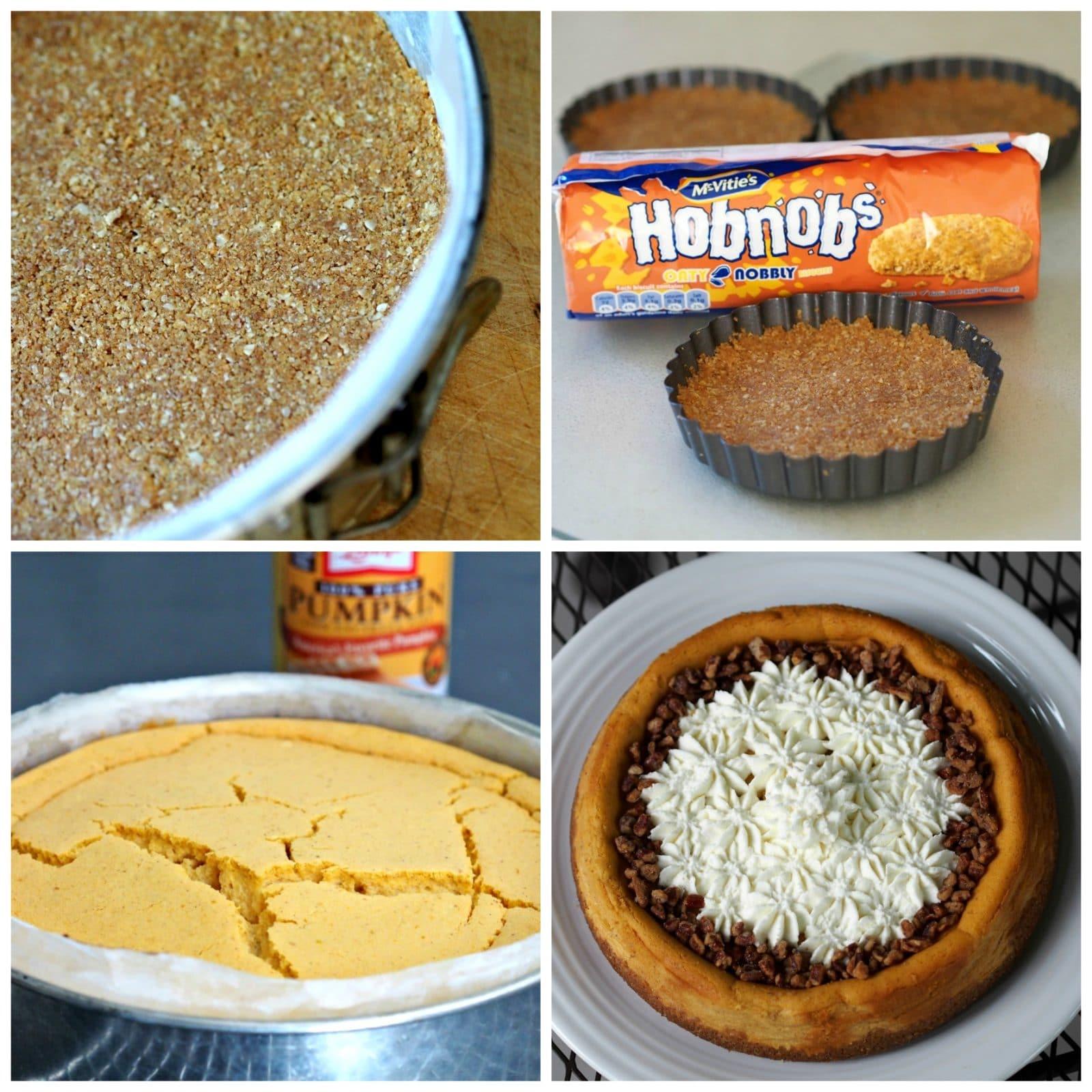 Pumpkin Pie Cheesecake - Simply Sated