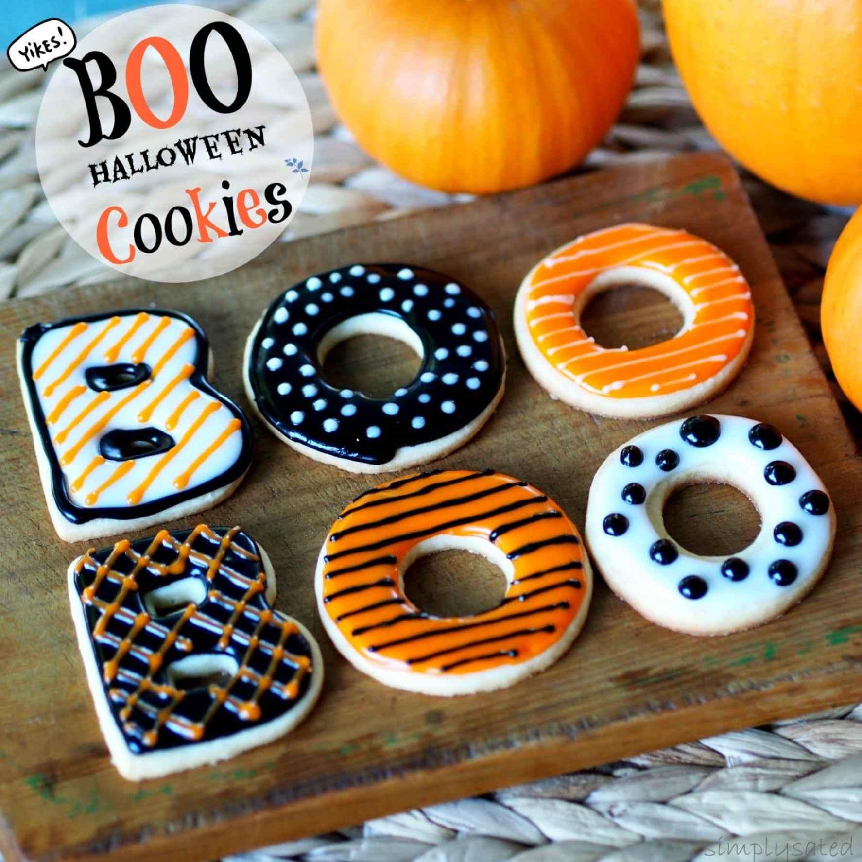 BOO Halloween Cookies