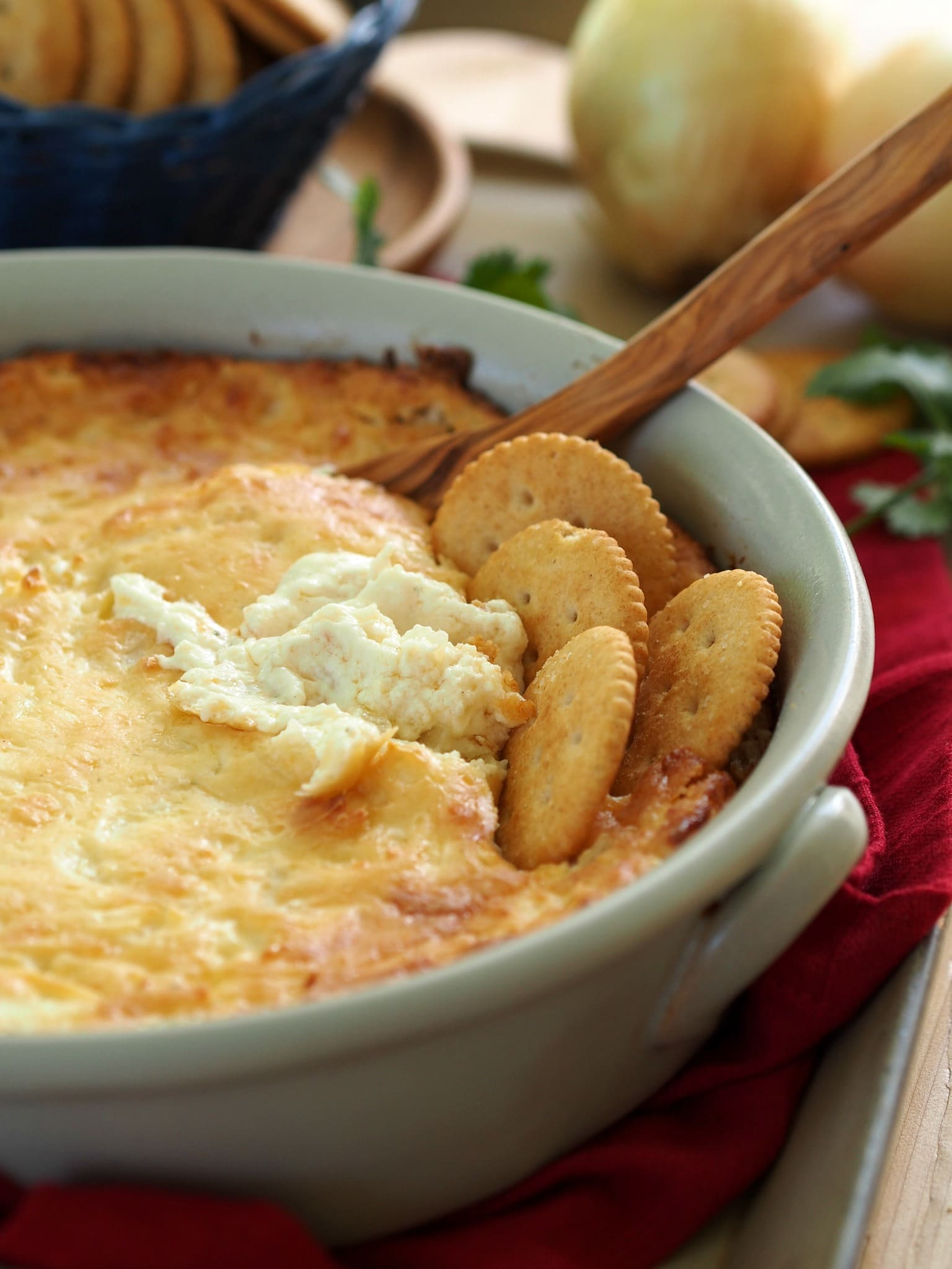 Hot Onion Dip with Boursin | Simply Sated