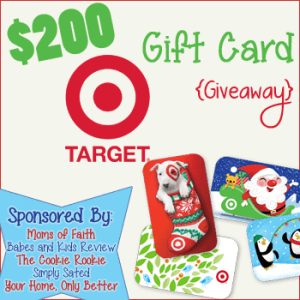 Target $200 Christmas Giveaway - Simply Sated