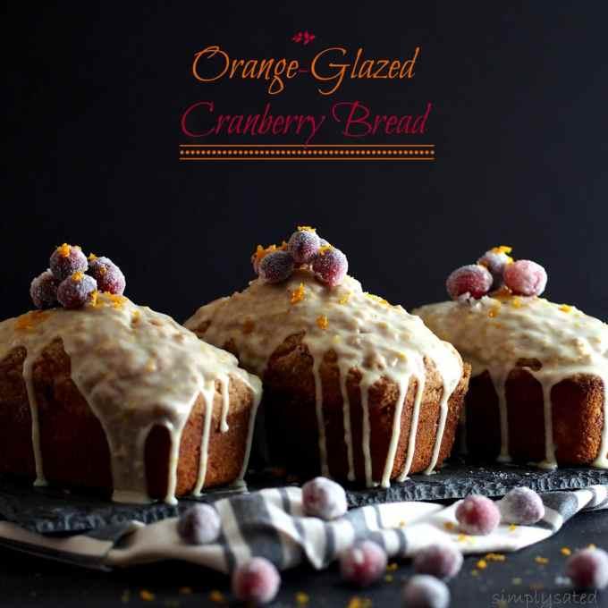 Orange-Glazed Cranberry Bread