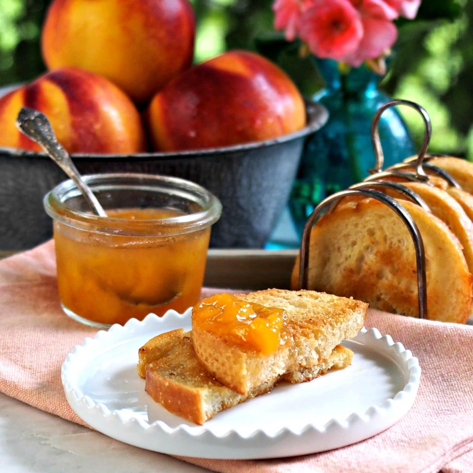 Fresh Peach Jam - this classic jam is bursting w/fresh peach flavor ...