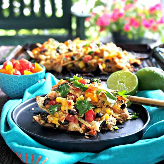 Grilled Tequila Lime Chicken Nachos