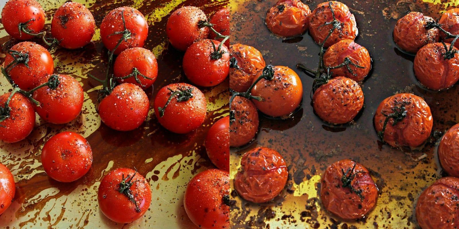 Roasted Tomato Bruschetta. Toasted Italian bread topped w/roasted ...