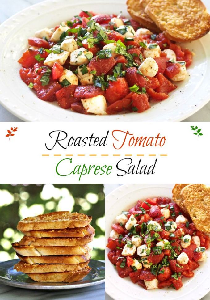 Roasted Tomato Caprese Salad - Simply Sated