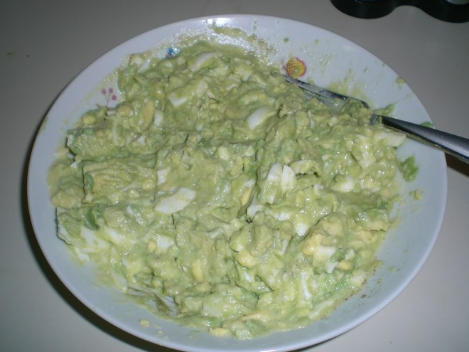 Finished Avocado Egg Salad!