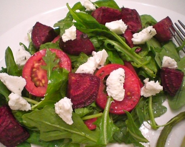 Roasted Beet and Goat Cheese Salad | Simply Scrumptious by Sarah