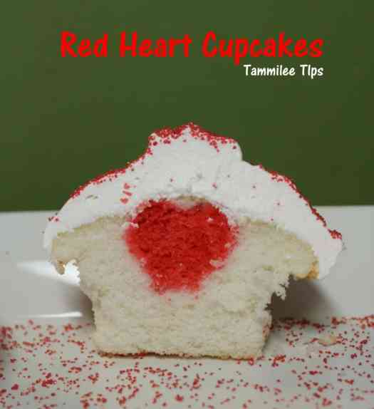 Red Heart Valentine's Day Cupcakes