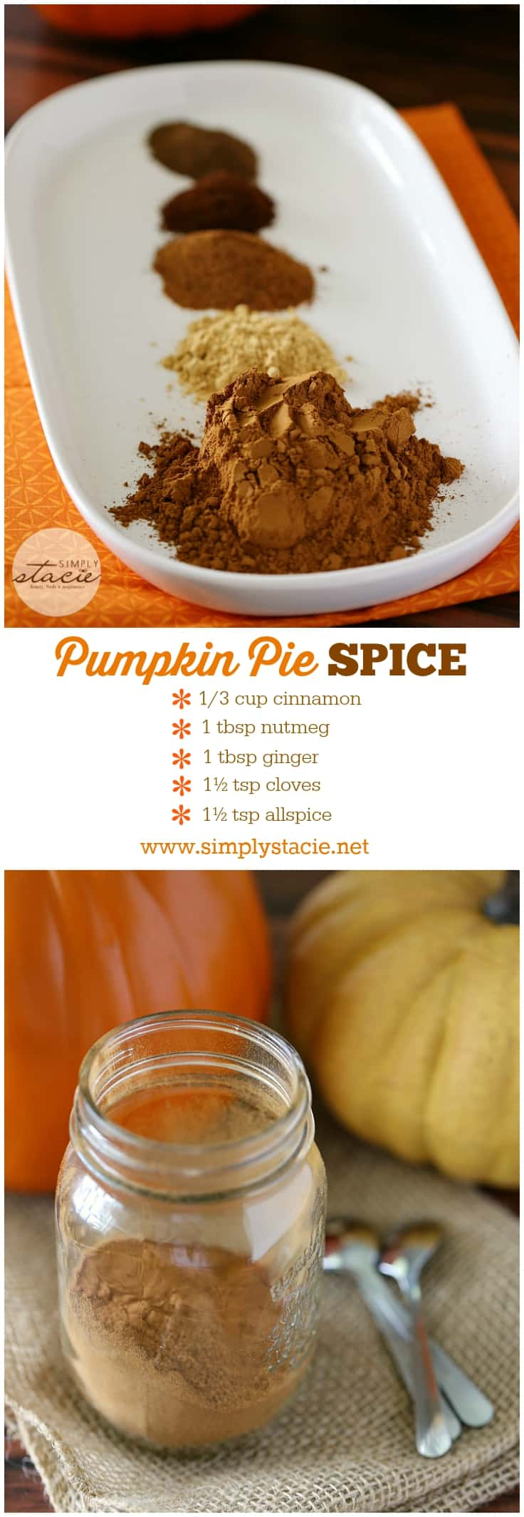 Homemade Pumpkin Pie Spice - Simply Stacie