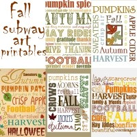 Printable Fall Subway Art