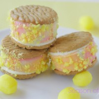Guest Post: Lemon Drop Ice Cream Sandwiches from Judy at Season of Sweets