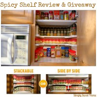 Getting Organized with Spicy Shelf - Review & Giveaway