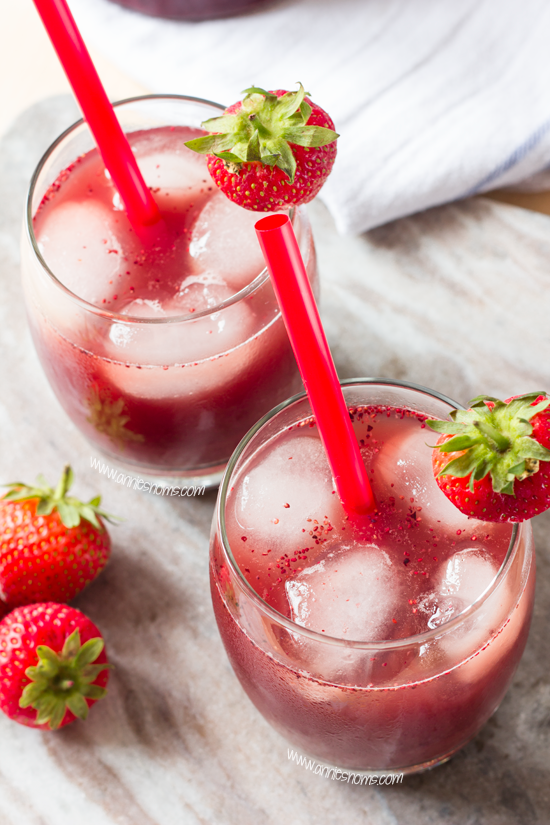 Strawberry and Blueberry Iced Tea Glasses
