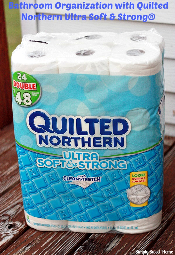 Bathroom Organization with Quilted Norther Ultra Soft and Strong