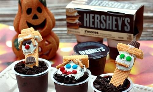Hersheys Halloween Scarecrow Pudding Cups