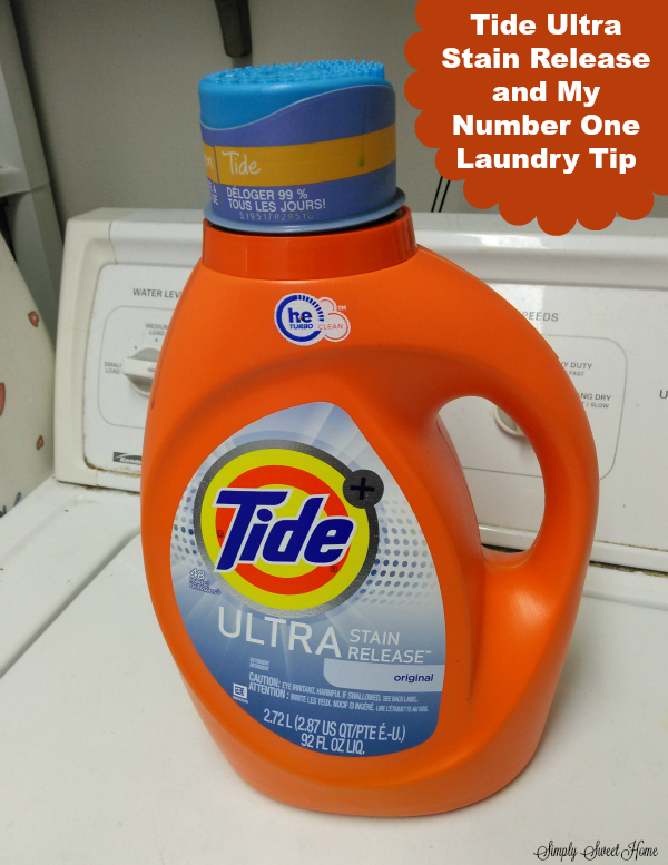Tide Ultra Stain Release and My Number One Laundry Tip