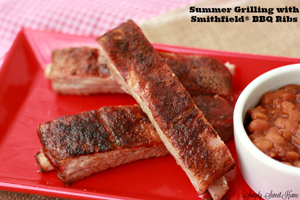 Summer Grilling with Smithfield BBQ Ribs