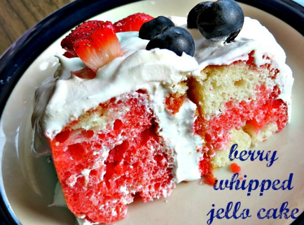 Berry Whipped Jello Cake