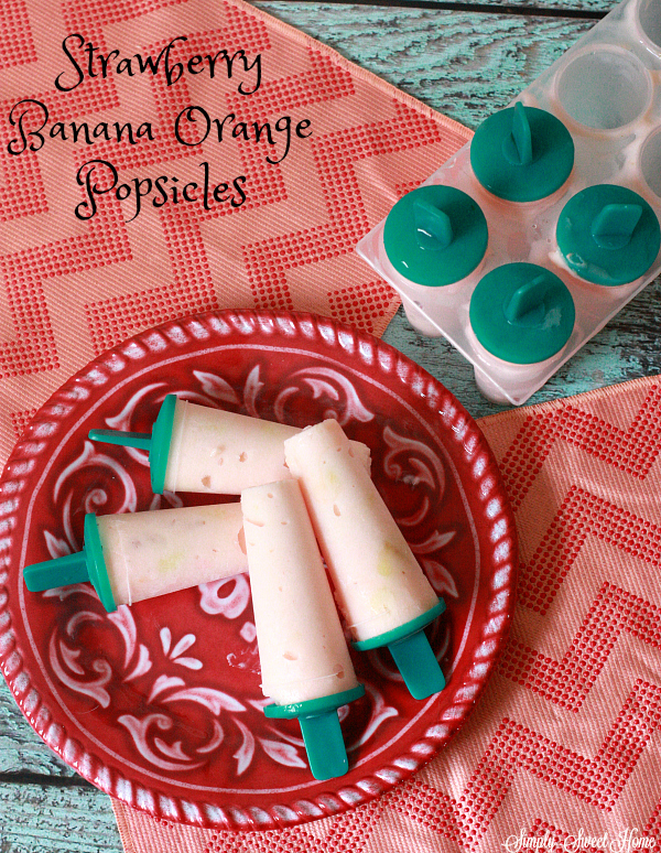 Strawberry Banana Orange Popsicles
