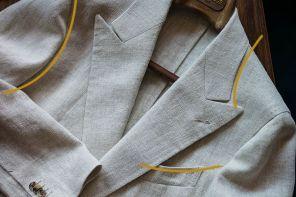 Formas curvas de una chaqueta.